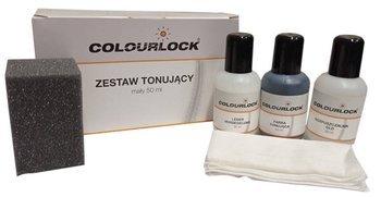 COLOURLOCK Zestaw tonujący Czarny 50ml Farba DO Renowacji SKÓRY KIEROWNICY CZARNA Tapicerki