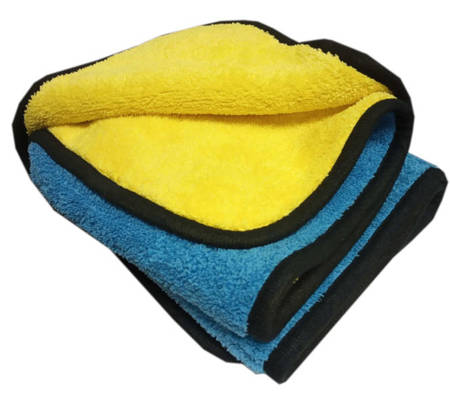 CARTEC Mikrofibra niebiesko-żółta Duży Ręcznik 80x50cm