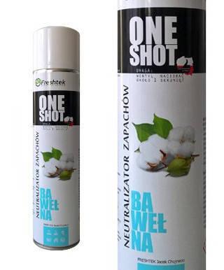 One Shot BAWEŁNA 600ml neutralizacja zapachów Odświeżacz powietrza Świeżość Mydło