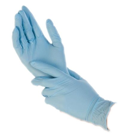 RĘKAWICE JEDNORAZOWE NITRYLOWE A100 L Niebieskie 100szt