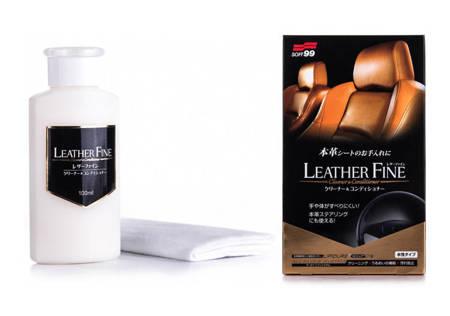 SOFT99 Leather Fine Cleaner & Conditioner Krem do czyszczenia i odżywiania skóry Foteli skórzanych