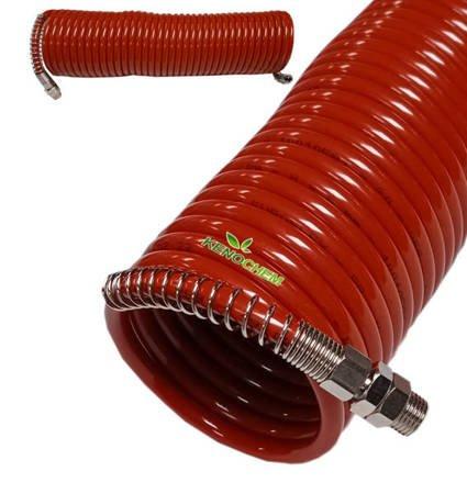 WĄŻ spiralny do natrysku chemii 10m sprężysty pneumatyczny