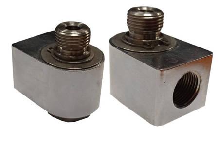 Złącze obrotowe  90 GZ1/4-GW1/4 Mosiądz mocowanie